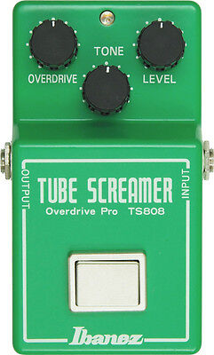 NEW IBANEZ TS808 TUBE SCREAMER OVERDRIVE PRO PEDAL w/ FREE CABLE 0$ US SHIP