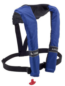 ONYX A/M 24 Automatic / Manual Blue Inflatable PFD Life Jacket Vest - 3200BLU99