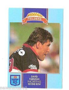 1993-FIELDERS-RUGBY-LEAGUE-CARD-DAVID-FAIRLEIGH-NORTH-SYDNEY-BEARS-USED