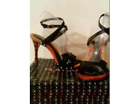 Playboy rainbow stiletto heels size 7
