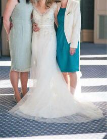 Maggie sottero carmen wedding dress, ivory/pewter