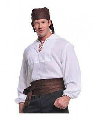 Herren-halloween-kostüm Seemann (Underwraps Piraten Hemd Creme Hell Seemanns Erwachsene Herren Halloween Kostüm)