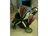 Oyster max tandem pushchair travel system
