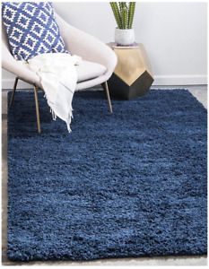 12' x 15' Solid Shag Rug - Navy Blue Brand New (Unique Loom)