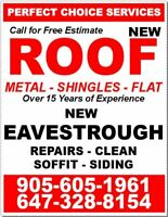 NEW ROOF or NEW EAVESTROUGH - Siding, Soffit, Fascia Repairs