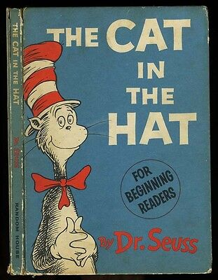 Dr Seuss: The Cat in the Hat HB True First with single signature (1957)