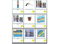 Expanding Foam Gun, Roofing Felt, Tandoori Cement, Brick & Patio Cleaner, Line Paint, Flashing Tape