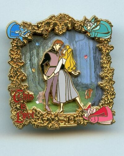Disney This Is Love Briar Rose Prince Phillip 1st Meeting In Forest Fairies Pin