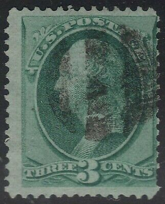 US Scott # 136 3c Washington Fancy Cancel Nice Grill