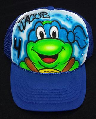 Teenage Mutant Ninja Turtle Names (Airbrushed Teenage Mutant Ninja Turtle TMNT Inspired Hat With Your)