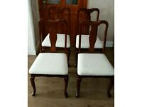 Queen Ann Style Chairs MINT Excellent £60 ONO