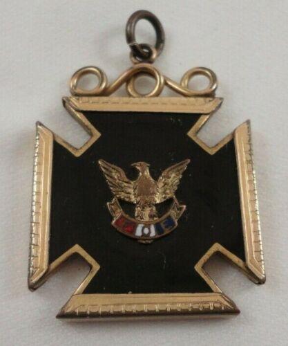 Vintage FOE Fraternal Order Of Eagles Cross Medal Pendant Pin