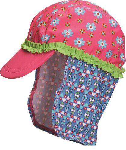 Playshoes UV-Schutz Mütze Blumen mit langem Nackenschutz Badekappe