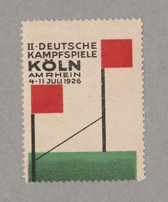 Poster stamp  Deutsche Kampfspiele Modernist Graphic Design Bauhaus Typography