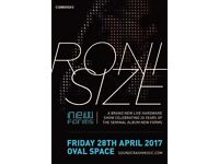Roni Size - Oval Space (3 x Tickets)