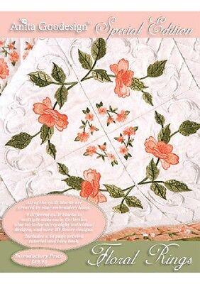 Anita Goodesign Embroidery Machine Design CD FLORAL RINGS