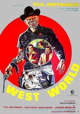 Yul Brunner Richard Benjamin Westworld West World Original Filmplakat A1 gerollt