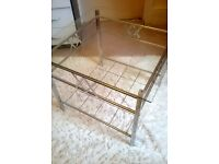 Glass Topped / Silver Chrome Table