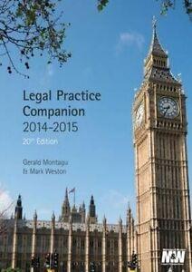 Legal Practice Companion 2014/15 by Gerald Montagu, Mark Weston (Paperback,...