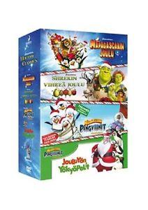 DreamWorks Holiday Clasics 4 DVDs Merry Madagascar Penguins & Shrek The Halls