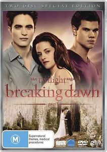 The Twilight Saga 4: BREAKING DAWN Part 1 ; NEW 2-DVD
