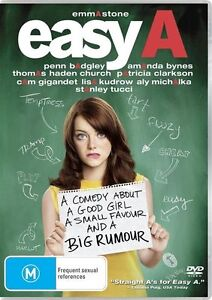 Easy-A-DVD-2011-Region-4-Mint-Condition