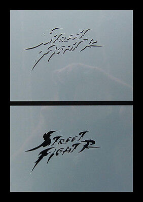 Step by Step Airbrush Schablone / Stencil 0534 Streetfighter 5