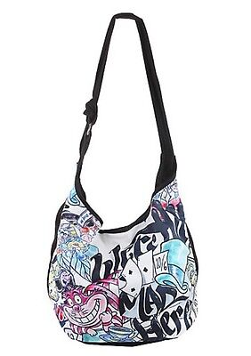 Disney Alice In Wonderland We're All Mad Here Color Tattoo Hobo Bag Tote