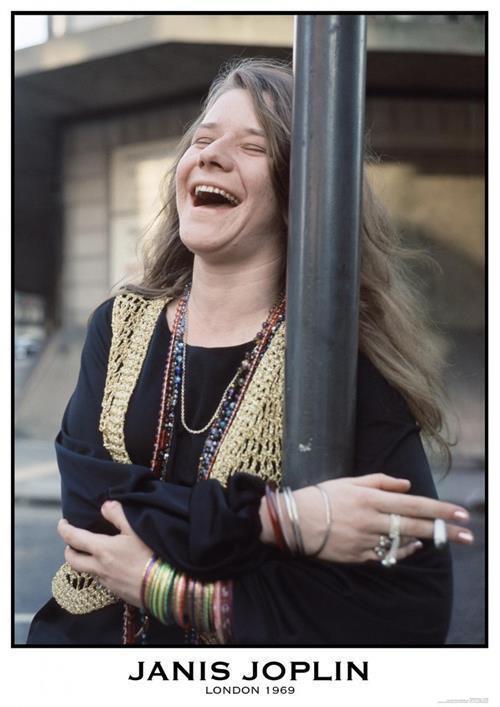 ~~ JANIS JOPLIN {eu} LONDON 1969  24X33 POSTER ~~