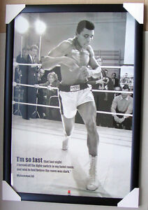 MUHAMMAD-ALI-TRAINING-framed-POSTER-IM-SO-FAST-Ready-to-Hang-LICENSED