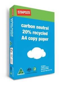 Staples Carbon Neutral A4 Copy Paper 80gsm White For Sale Melbourne CBD Melbourne City Preview