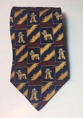 Tommy Hilfiger Golden Retriever Cocker Spaniel Tie Silk Men's Novelty - Spaniel Tie