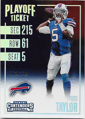 Tyrod Taylor 2016 Contenders Playoff Ticket Base Parallel #2/249 - Buffalo Bills