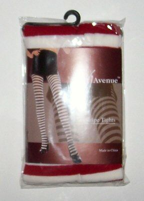 Stripe Tights Red White LEG AVENUE OSFM Costume Halloween Stockings Rag Doll - Red White Stripe Tights