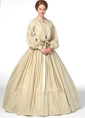 B5831 Nähmuster Bürgerkrieg Ära 1860s Mode Misses Kleid Unterrock Kostüm