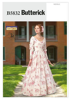 B5832 Sewing Pattern Misses Civil War Costume Gone With the Wind Melanie Dress