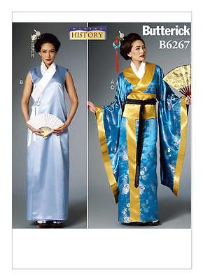 B6267 Sewing Pattern Butterick 6267 Kimono Wrap Dress Obi Mulan Geisha Costume
