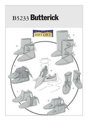 Renaissance Boot Pattern (B5233 Sewing Pattern Renaissance Historical Footwear Slippers Boot Moccasins)