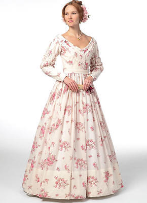 Gone With Wind Costumes (B5832 Sewing Pattern Misses Civil War Costume Gone With the Wind Melanie)