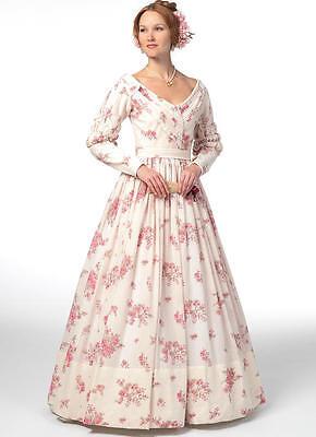 B5832 Nähmuster Misses Bürgerkrieg Kostüm Gone With The Wind Melanie Kleid