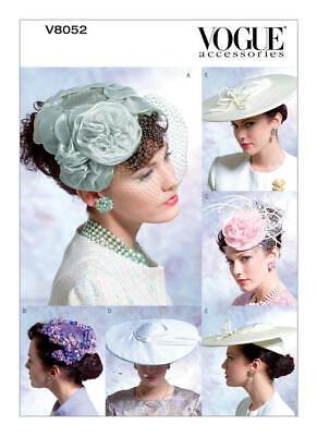 Vogue Schnittmuster Vintage  V8052,  1950er Jahre,  5 Hüte Vintage Vogue
