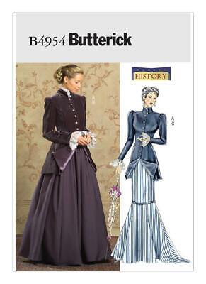 BUTTERICK Schnittmuster B4954 History 1900+, Kostüm, sizes 8 - 14,  Gr. 34 - 40