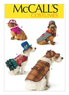 MCCALLS PATTERN 7004 STEAMPUNK SHERLOCK DOG COSTUMES SIZES S M L XL NEW UNCUT
