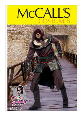McCALL'S M7646 Yaya Han Men's Assassin's Creed Cosplay Costume Sewing Pattern](Female Assassin Creed Costume)