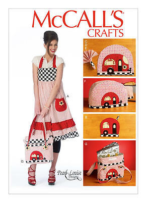 Toaster Cover Patterns - McCall's 6935 Rero Apron, Placemats, Napkins, Toaster Cover, Cooler Pattern