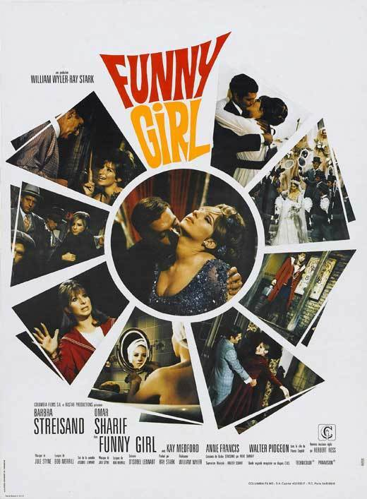 FUNNY GIRL Movie POSTER 27x40 French Barbra Streisand Omar Sharif Walter Pidgeon