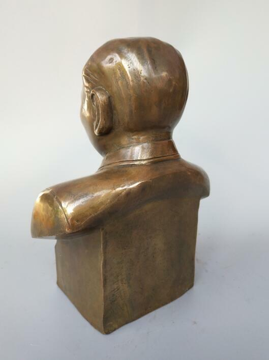 Chinese pure brass Great leader deng xiaoping statue