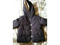 Verbaudet dark blue warm winter coat. For 2 y/o
