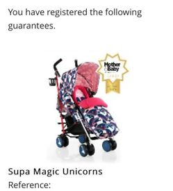 Cosatto Supa Go- Magic Unicorns (LIKE NEW)