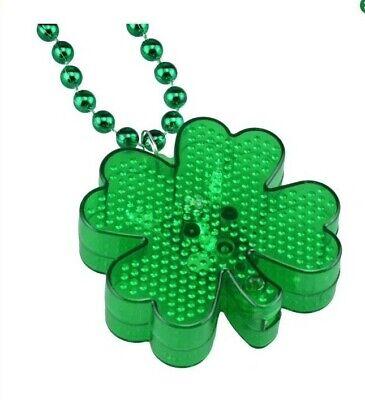 St. Patrick's Day Shamrock light up flashing necklace 20